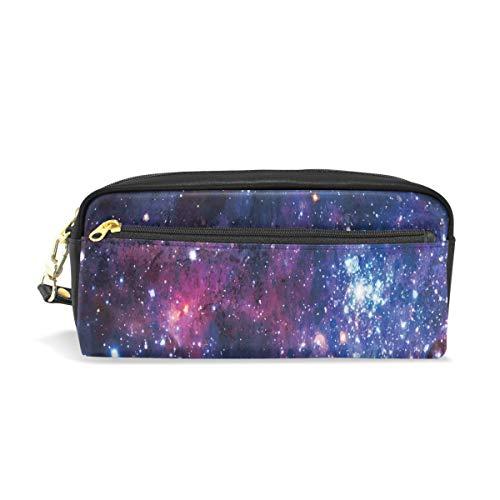 Astuccio portapenne per studenti, motivo: galassia, stelle, universo, notte segreta in poliuretano,...