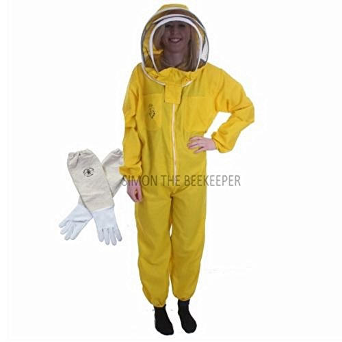 Buzz Basic tuta da ape apicoltore recinzione con velo e guanti–giallo (M)