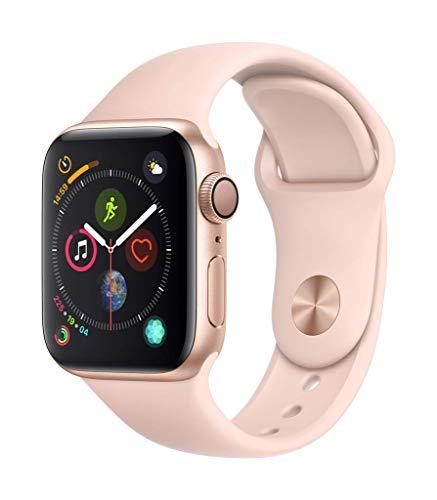 AppleWatch Series4 (GPS) con caja de 40mm de aluminio en oro y correa deportiva rosa arena