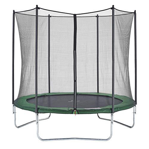 CZON SPORTS trampolino, 250 cm tappeto elastico con rete di sicurezza, verde|trampolino elastico da...