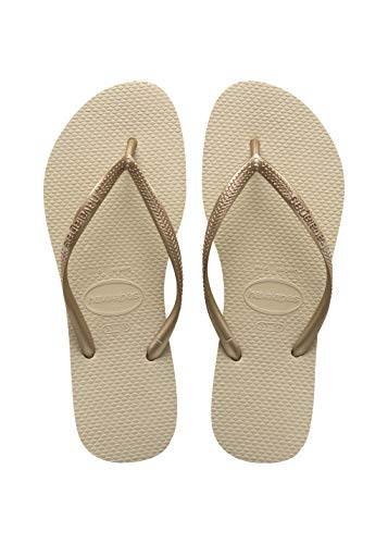 Havaianas Slim Infradito Unisex – Adulto, oro (Sand Grey/Light Golden 2719), 37/38 EU (35/36...
