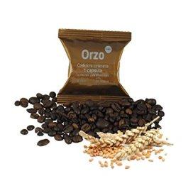 ODC MADE IN ITALY Kit formato da 50 CAPSULE ORZO Capsule Monodose Compatibili con le Macchine Lavazza Espresso Point.