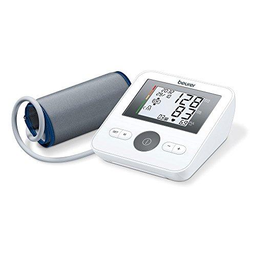 Beurer BM 27 Misuratore di Pressione da Braccio con Display Orizzontale, Funzione di Memoria e...