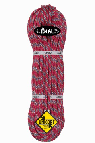 BEAL C100.80 - Cuerda de escalada, color blanco (fuchsia), talla 10 mm x 80 m