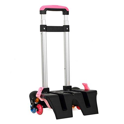 Carrello per zaino di scuola - Carrello con ruote Carrello in alluminio per carrello rotelle Lega di...