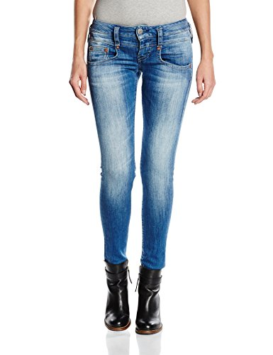 Herrlicher Damen Slim Jeanshose Pitch Denim Powerstretch, Gr. W27/L32...