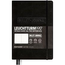 Leuchtturm1917 BULLET JOURNAL 346703 - Carnet Medium (A5) Couverture Rigide, 240 Pages numér., Pointillés, Noir