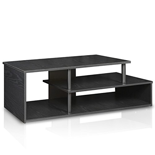 Furinno 15044BW/BK econ Low Rise TV Stand, Blackwood