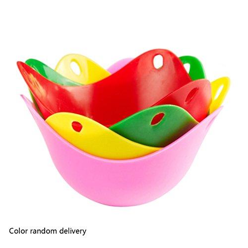 Escalfador de huevos para poached huevos silicona cocina herramientas Color al azar