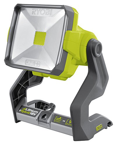 This work light is super bright owing to the 2000 lumens and dwarfs many other units with 250 – 500 lumens in this department. It is highly versatile too, allowing you to position it almost anywhere and able of rotating 360 degrees to focus light to a desired direction. It is well-built with a sturdy case and integrated handle. The fact that it's compatible with ONE+ system is something Ryobi fans will appreciate since it eliminates the need to buy another battery. However, you will have to buy a battery pack if you are purchasing Ryobi products for the first time. All in all, the Ryobi R18ALH-0 18V ONE+ Cordless Hybrid Area Light makes a great light source in any dark situation.