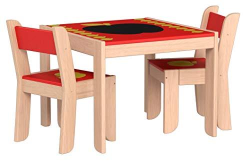 labebe - Legno Tavolino e Sedia Bambini con Lavagna di 1-5 Anni, Tavolino con Seduta di Cartone per...