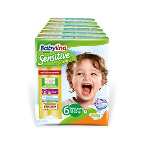 Babylino Sensitive Extra Large, 90 Pannolini Taglia 6 (15-30Kg)