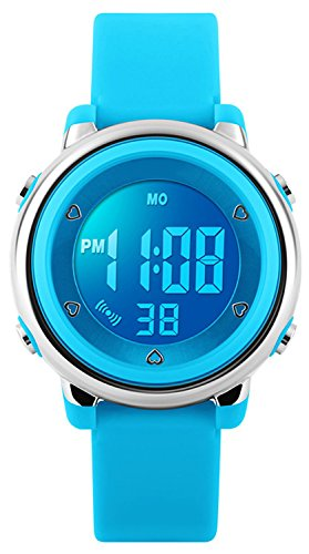 Digitale polso per bambine, bambini 5 atm impermeabile sport orologio con data/allarme/cronografo/7...