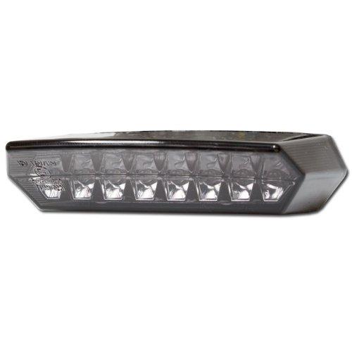 Motorrad LED Rücklicht \'Teramo\', getönt, m. KZ-Beleuchtung, E-geprüft