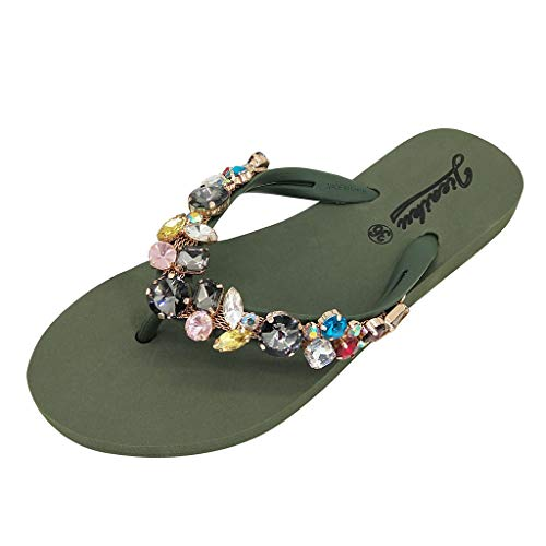 Xinantime Sandali da Donna da Estate, Open Toe Strass Flip Flop Sandali Estivi Scarpe da Spiaggia...