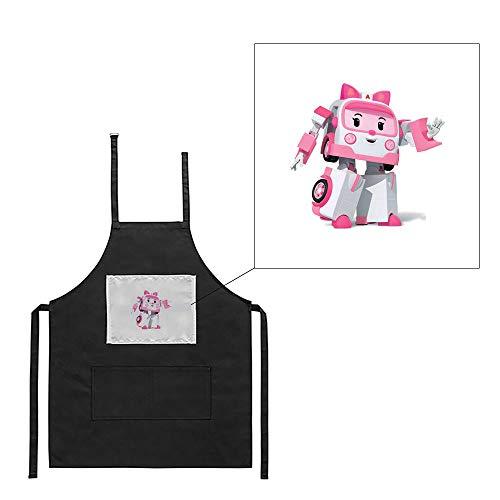 Mygoodprice Küchenschürze, schwarz, Grillschürze Ambulance Robot 2 Bedruckt