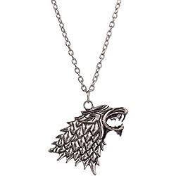 Collar de MetaLupo Stark Game of Thrones Juego de Tronos - modelo Jon Snow