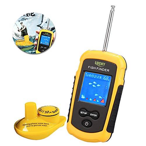 YYYUUU Ecoscandaglio ad ultrasuoni per Telefono Cellulare con rilevatore di Pesce Senza Fili ad ultrasuoni HD Inglese per la Ricerca di Suoni di Pesci.
