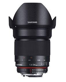 Samyang F1110810101 - Objetivo fotográfico DSLR para Fuji X (distancia focal fija 24mm, apertura f/1.4-22 ED AS IF UMC, diámetro filtro: 77mm), negro