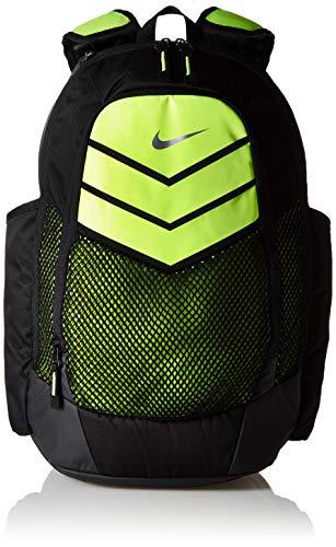Nike 25 Ltrs Black/Volt/Metallic Silver School Backpack (BA5246-010)