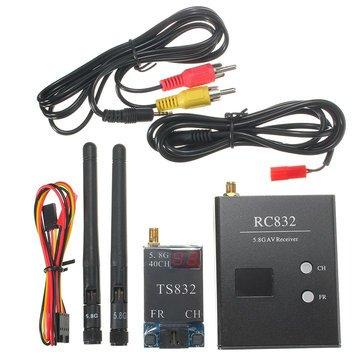 Universalmart 5 km Wireless AV Transmitter TS832 40CH + RC832 Receiver 48CH for FPV
