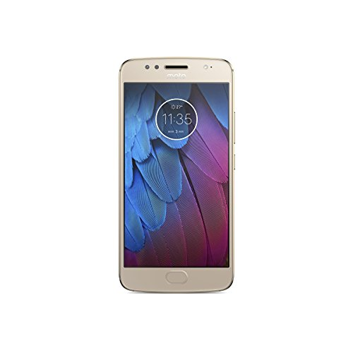 Moto G5s - Smartphone Libre Android 7.1 (Pantalla de 5.2'' Full HD, 4G, cámara de 16 MP, 3 GB de RAM, 32 GB, Qualcomm Snapdragon 1.4 GHz) Dorado