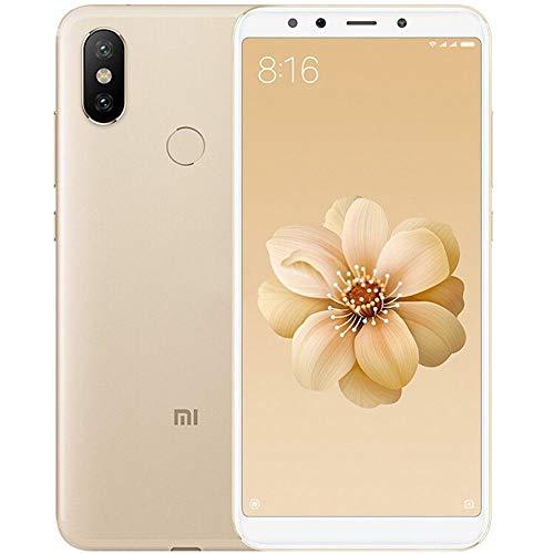 """Xiaomi MI A2 - Smartphone DE 5.9"""" (Qualcomm Snapdragon 660 a 2.2 GHz, RAM de 4 GB, Memoria de 64 GB, cámara Dual de 12/20 MP, Android) Color Dorado [Versión española]"""