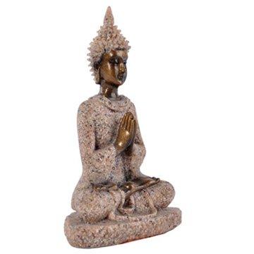 Estatua Estatuilla de Piedra Arenisca Escultura de Buda Meditación Tallada a Mano #3 6