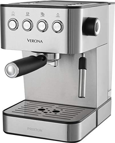 PRIXTON - Macchina da caffè/Macchinetta caffe Automatica, 20 Bar, Potenza 850W, portafiltro per...