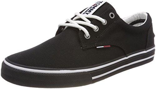 best website e9082 91313 Hilfiger Denim Tommy Jeans Textile Sneaker, Scarpe da Ginnastica Basse  Uomo, Grigio
