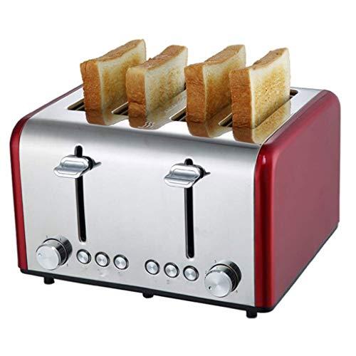 Kylinkkx Tostapane a 4 fette, tostapane con Pane in Acciaio Inox con scaldavivande, Funzione di...