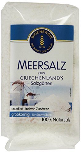 Bioenergie Meersalz grob Griechenland, 8er Pack (8 x 500 g)