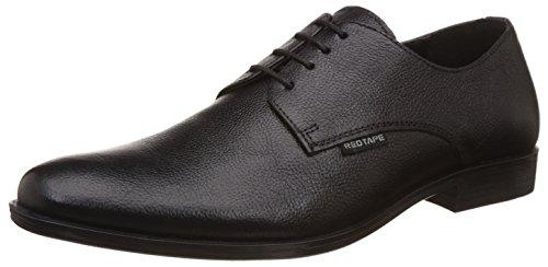 Red Tape Men's Black Leather Formal Shoes - 8 UK/India (42 EU)