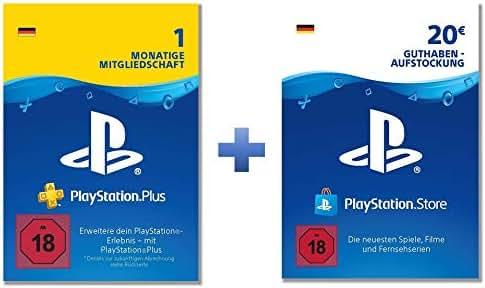 PlayStation Plus: Online Starter Pack (PS Plus 1 Monat mit 20€ PSN Guthaben; deutsches Konto)