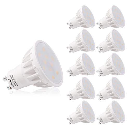 Lampadine LED LOHAS GU10, Lampadine Alogene da 6W Equivalenti a 50W, Dimmerabili, Perfette per l'uso...