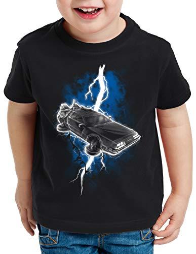 style3 Delorean Thunderstorm T-Shirt per Bambini e Ragazzi fulmini temporale Tempo, Dimensione:116
