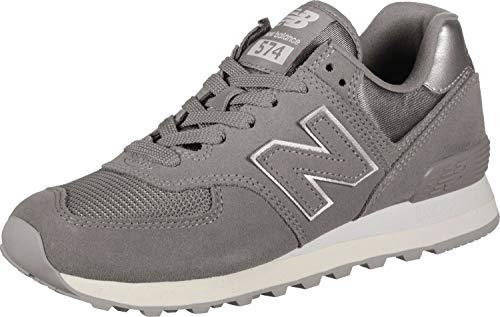 New Balance Damen 574 Sateen Tab Sneaker, Grau (Grey Ms), 39 EU