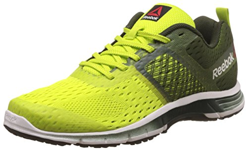 Reebok Men's Ride One Green, Yellow, White and Black Running Shoes - 7 UK/India (40.5 EU)(8 US)