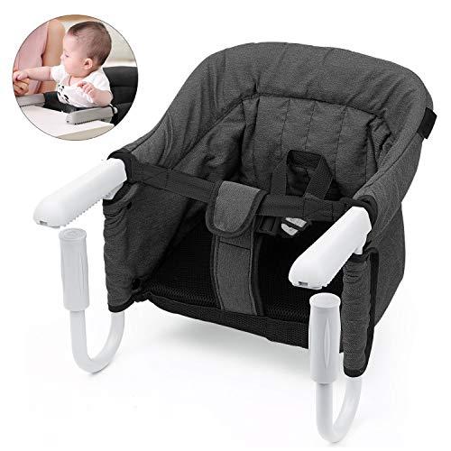 Baby Seggiolino da Tavolo Pieghevole Lavabile con borsa per il trasporto Facile da Trasportare ...
