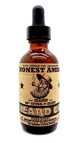 Honish Amish - Classic Beard Oil - 2oz IL MARCHIO PIÙ AFFIDABILE PER I BARBOSI NEL PAROLA Condizionatore all-in-one, addolcente, aggiunge lucentezza e una crescita più veloce della barba da Honest Amish