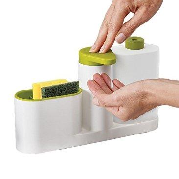 New Arrival Plastic 2 In 1 Multipurpose Sink Tidy Set Liquid Soap Dispenser, Standard, Multicolour 5