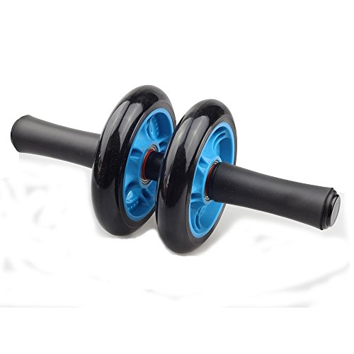 House Of Quirk Ab Wheel Roller With Knee Pad Abdominal Exercise Toning Wheel Double Wheel Smooth Workout