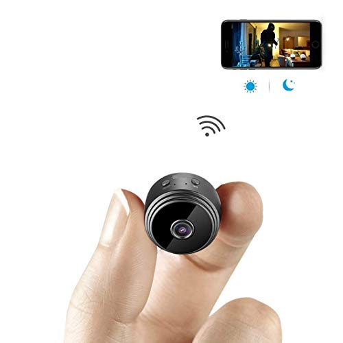 AHAXA Silicone and ABS Mini WiFi Hidden Wireless HD 1080P Indoor Home Small Spy Security Cameras/Nanny Cam Built-in Battery with Motion