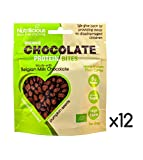 Organic Milk Chocolate Pumpkin Seeds (12 x 30g) - High Protein, High Fibre, Low Carb, Low Sugar, Sweetener Free, Natural Snacks