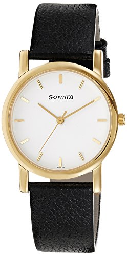 Sonata Analog White Dial Men's Watch-NJ7987YL02W