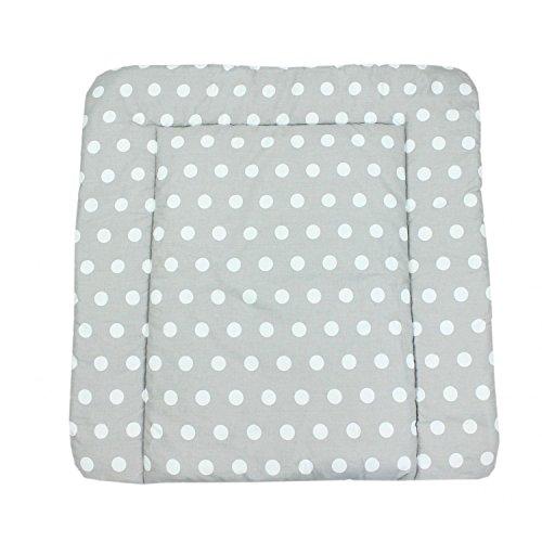 TupTam Baby Wickeltischauflage mit Baumwollbezug Gemustert, Farbe: Muster 8, Größe: 70 x 70 cm
