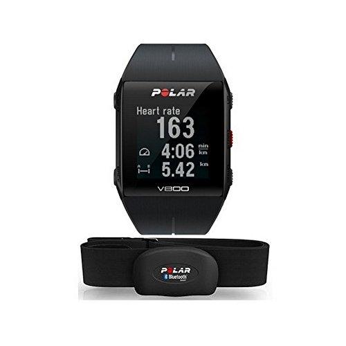 Polar Orologio GPS Multisport per Monitoraggio attività Fisica Unisex Adulti, V800 HR Rosso, M