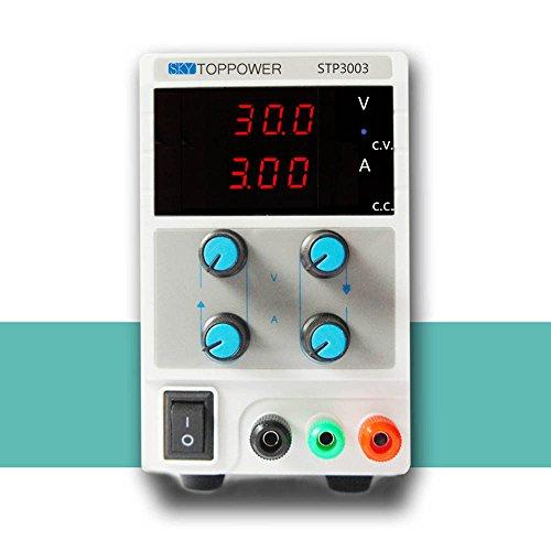 KKmoon 0-30V 0-3A Mini Fuente de Alimentación Regulado Laboratorio Digital DC Ajustable Salida de Tensión Actual STP3003 EU Plug