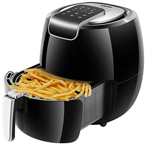 AUKUYEE Friggitrice ad Aria Senza Olio Controllo Touch Screen Lavabile 5.3L 1800W per Una Cottura...