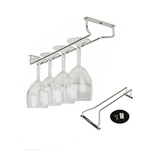 Tinksky Supporto di filo di vetro Hanger Champagne vetro Rack (argento)